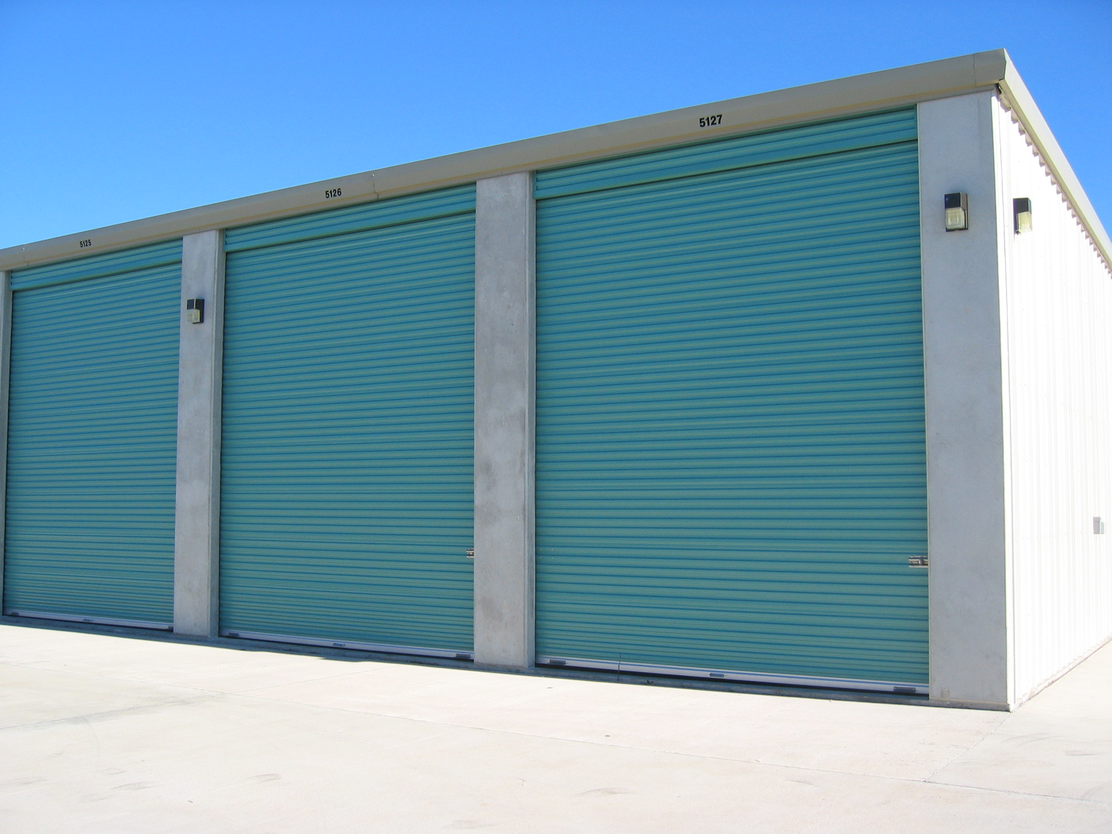 Outside access to storage facility